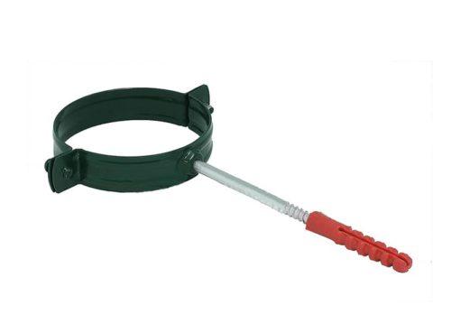 Крепление  трубы хомут, D 125 мм, темно-зеленый / 6005