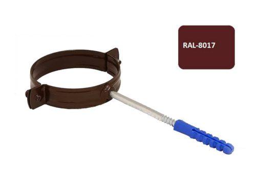 Крепление  трубы хомут, D 125 мм, коричневый / 8017