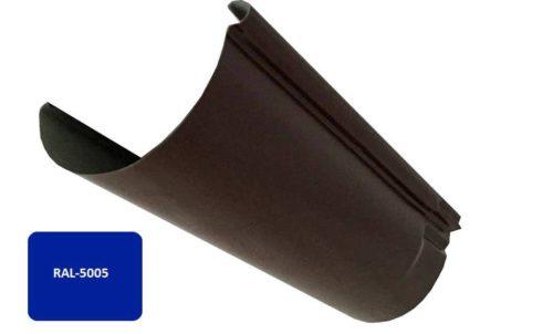 Желоб, Евро, D 125 мм, L 2 м, синий / 5005