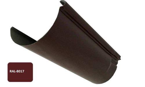 Желоб, Евро, D 125 мм, L 2 м, коричневый / 8017
