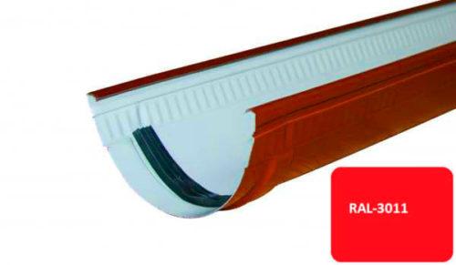 Желоб, Стандарт, D 125 мм, L 1 м, красный / 3011