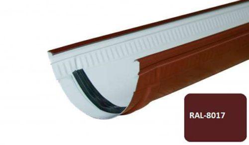 Желоб, Стандарт, D 125 мм, L 1 м, коричневый / 8017