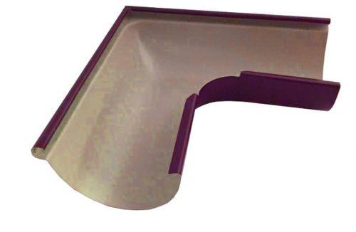 Желоб угловой 90*, Евро, D 125 мм, вишневый / 3005
