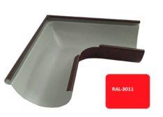 Желоб угловой 90*, Евро, D 125 мм, красный / 3011