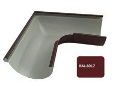 Желоб угловой 90*, Евро, D 125 мм, коричневый / 8017
