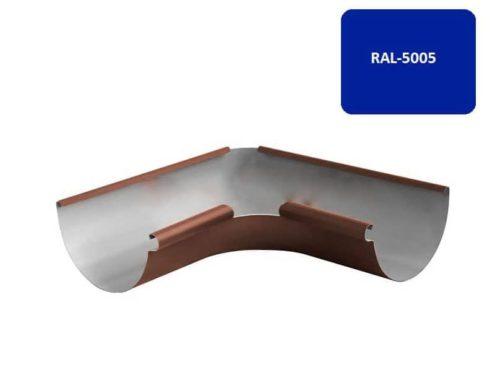 Желоб угловой 135*, Евро, D 125 мм, синий / 5005