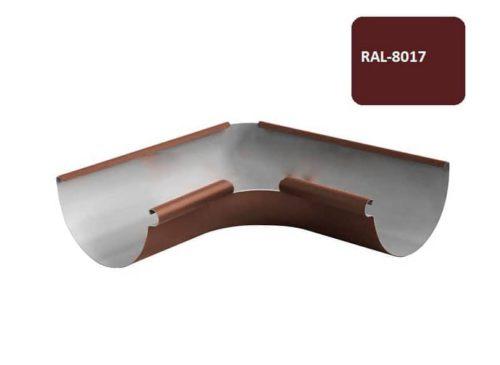 Желоб угловой 135*, Евро, D 125 мм, коричневый / 8017