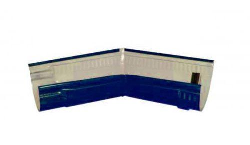 Желоб угловой 135*, Стандарт, D 125 мм, синий / 5005