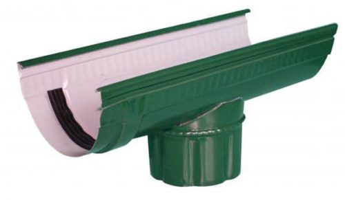 Канадка проходная, Евро, D 125 мм, L 3.1 м, темно-зеленый / 6005