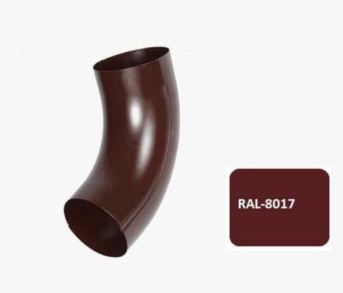 Колено гладкое универсальное 72*, Евро, D 100 мм, коричневый / 8017