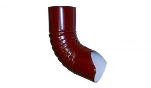 Колено гофрированное нижнее, Стандарт, D 125 мм, красный / 3011