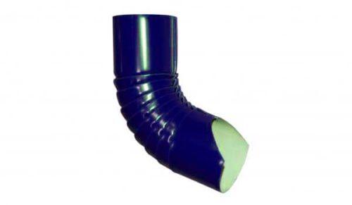 Колено гофрированное нижнее, Стандарт, D 125 мм, синий / 5005
