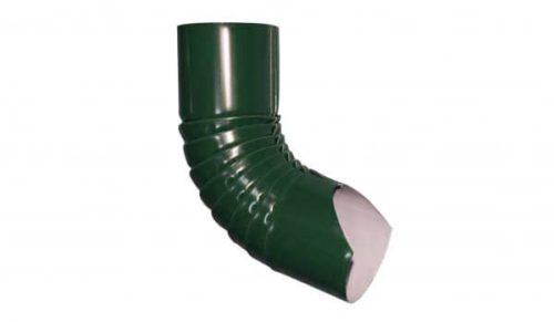 Колено гофрированное нижнее, Стандарт, D 125 мм, темно-зеленый / 6005