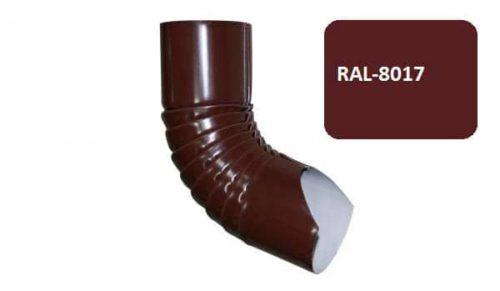 Колено гофрированное нижнее, Стандарт, D 125 мм, коричневый / 8017