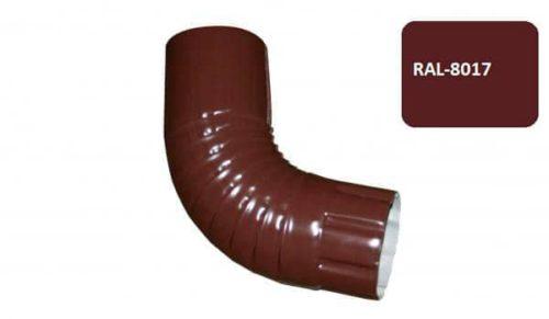 Колено гофрированное, Стандарт, D 125 мм, коричневый / 8017