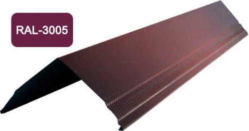 Конек / Ендова, Стандарт, S 150x150, вишневый / 3005