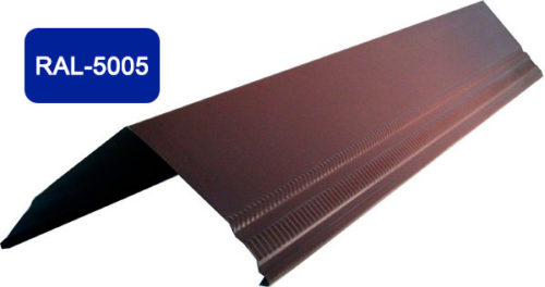 Конек / Ендова, Стандарт, S 200x200, синий / 5005