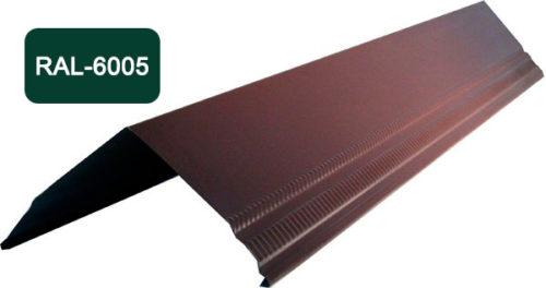 Конек / Ендова, Стандарт, S 150x150, темно-зеленый / 6005