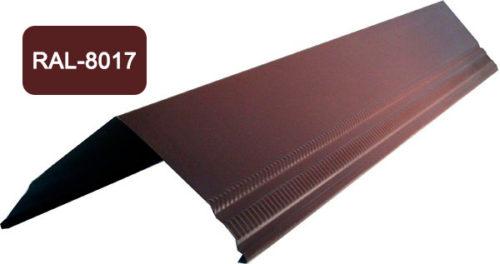 Конек / Ендова, Стандарт, S 200x200, коричневый / 8017