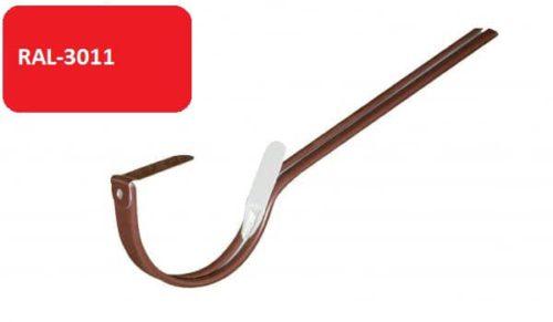 Крепление  желоба длинное, D 125 мм, красный / 3011