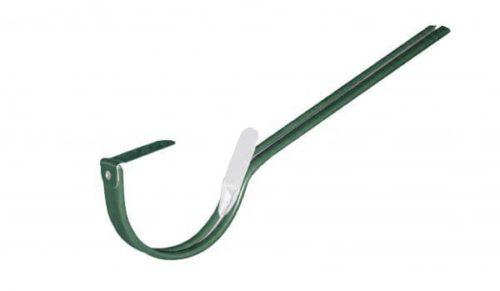 Крепление  желоба длинное, D 125 мм, темно-зеленый / 6005
