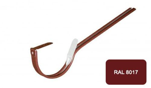 Крепление  желоба длинное, D 125 мм, коричневый / 8017