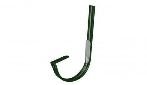 Крепление  желоба крюк, D 125 мм, темно-зеленый / 6005