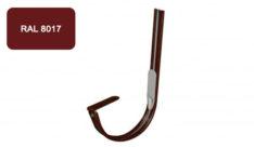 Крепление  желоба крюк, D 125 мм, коричневый / 8017