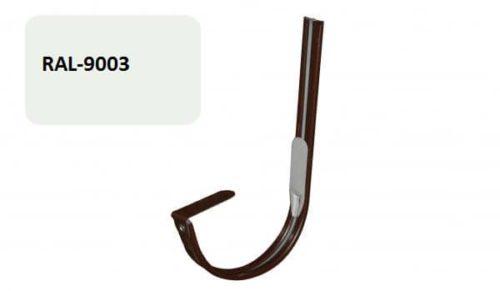 Крепление  желоба крюк, D 125 мм, белый / 9003