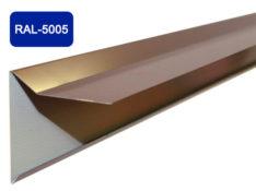 Планка фронтона для мягкой кровли, синий / 5005