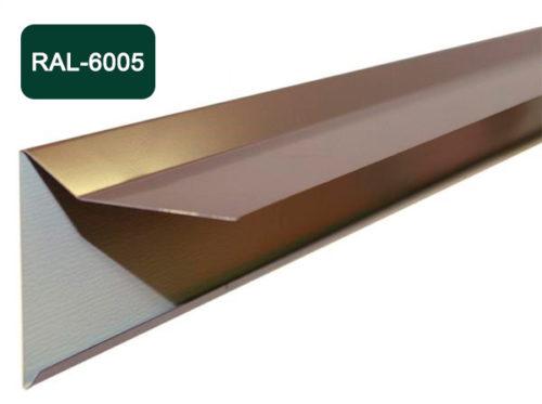 Планка фронтона для мягкой кровли, темно-зеленый / 6005