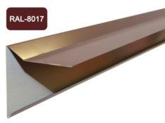 Планка фронтона для мягкой кровли, коричневый / 8017