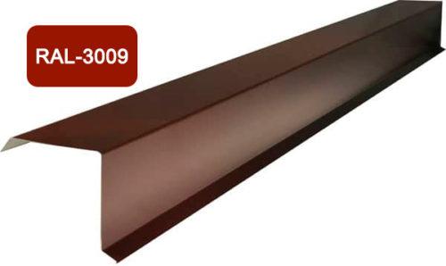 Планка фронтона (торцевая), S 20x80; 80x20, терракотовый / 3009