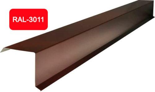 Планка фронтона (торцевая), S 20x80; 80x20, красный / 3011