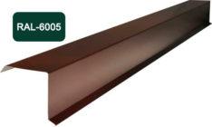 Планка фронтона (торцевая), S 20x80; 80x20, темно-зеленый / 6005