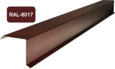 Планка фронтона (торцевая), S 20x80; 80x20, коричневый / 8017