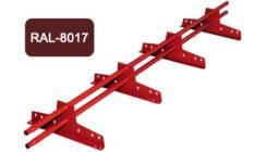 Снегозадержатель универсальный L 3000 мм, коричневый / 8017