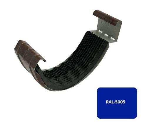 Соединитель желоба с резиновым уплотнителем, Евро, D 125 мм, синий / 5005