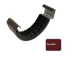 Соединитель желоба с резиновым уплотнителем, Евро, D 125 мм, коричневый / 8017