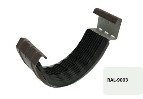 Соединитель желоба с резиновым уплотнителем, Евро, D 125 мм, белый / 9003