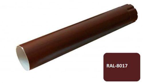 Труба, D 125 мм, L 0.5 м, коричневый / 8017