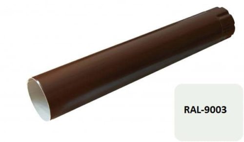 Труба, D 125 мм, L 0.5 м, белый / 9003