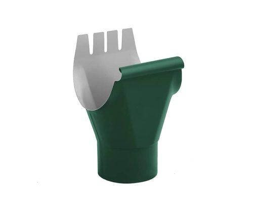 Воронка желоба, Евро, D 125/100 мм, темно-зеленый / 6005
