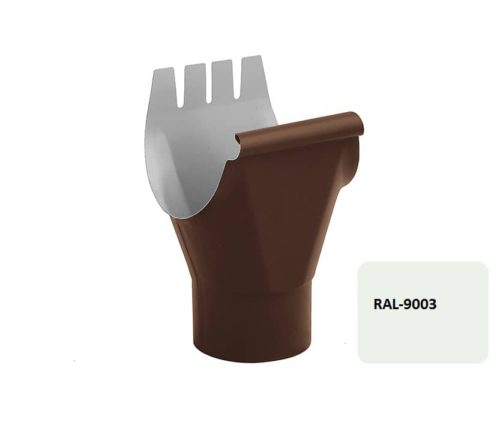 Воронка желоба, Евро, D 125/100 мм, белый / 9003