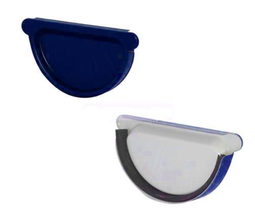 Заглушка желоба с резиновым уплотнителем, D 125 мм, синий / 5005
