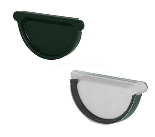 Заглушка желоба с резиновым уплотнителем, D 125 мм, темно-зеленый / 6005